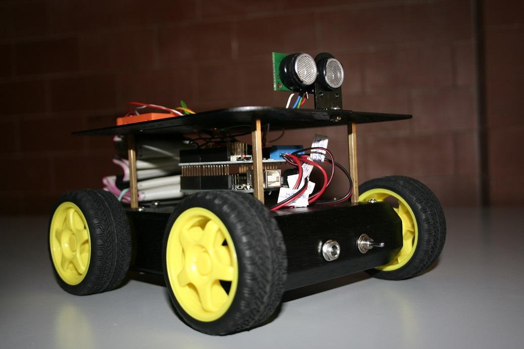 unità mobile - rover 4WD arduino motor shield sensore ultrasuoni